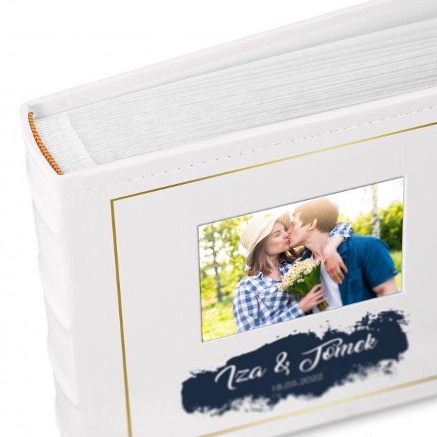 Album mały z oknem nadruk dedykacja dla pary na ślub rocznicę