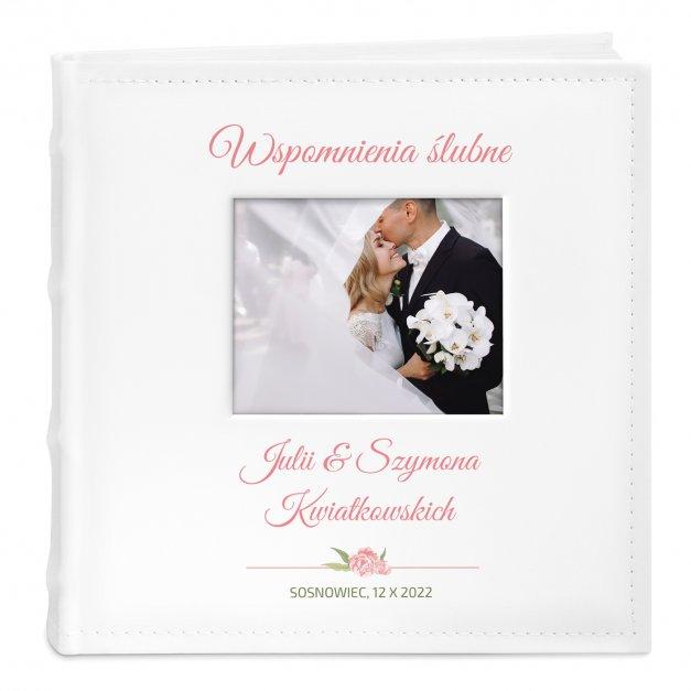 Album mały z oknem nadruk dedykacja dla pary na ślub