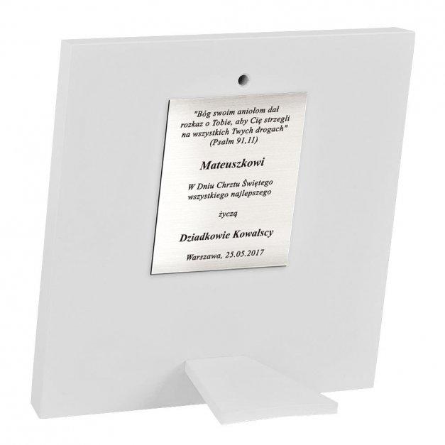Obrazek Srebrny BIANCO Aniołki 14cm GRAWER