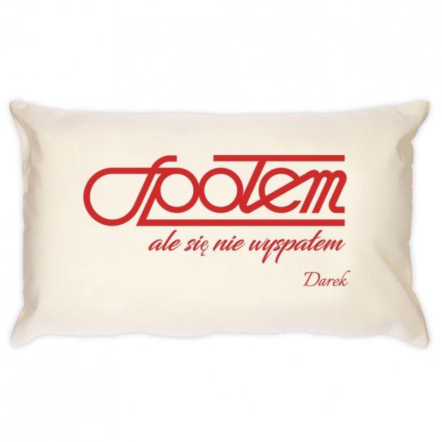 Poduszka personalizowana z nadrukiem NIEWYSPANY