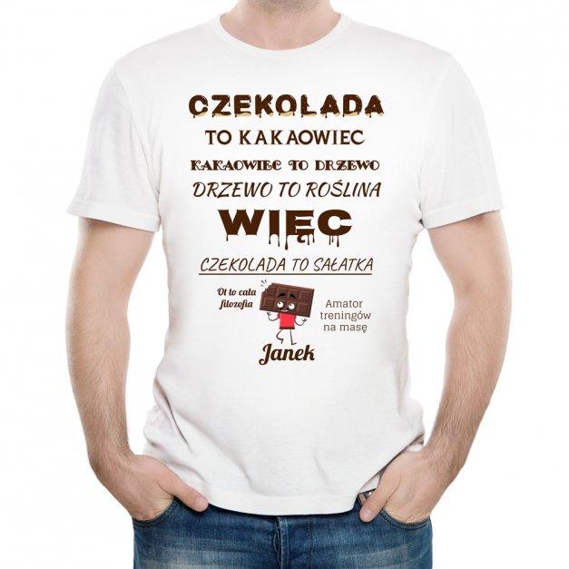 Koszulka Męska z Twoim Nadrukiem FAN CZEKOLADY