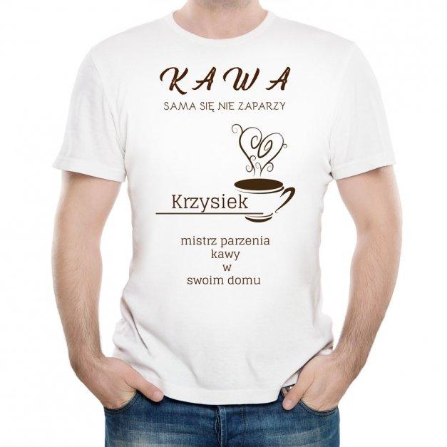 Koszulka Męska z Twoim Nadrukiem FAN KAWY KAWOSZ