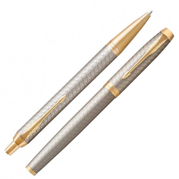 Zestaw Parker Pióro Długopis IM Warm Grey GRAWER