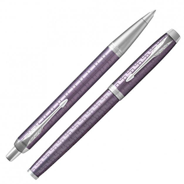 Zestaw Parker Pióro Długopis IM Dark Violet GRAWER