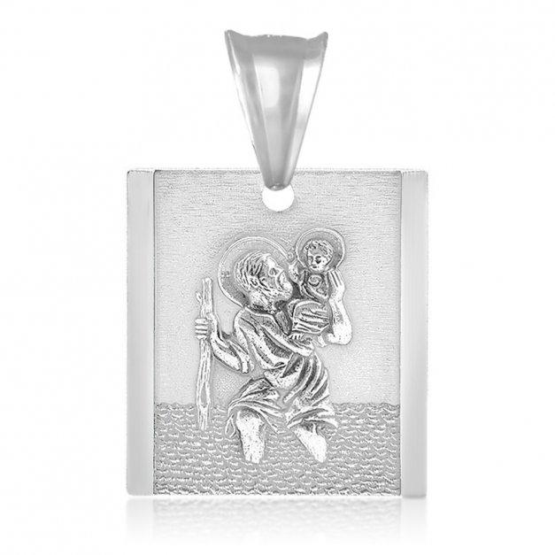Srebrny Medalik 925 an Chrzest Grawer