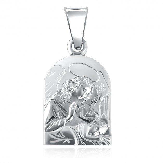 Srebrny Medalik 925 na Chrzest Grawer
