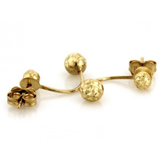 Złote kolczyki 333 na sztyft prezent grawer