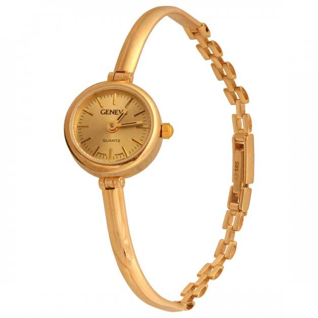 Złoty zegarek 585 damski sztywny prezent grawer