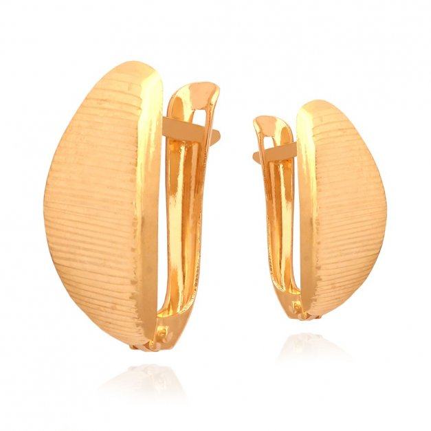 Złote kolczyki 585 zatrzaskowe PREZENT GRAWER