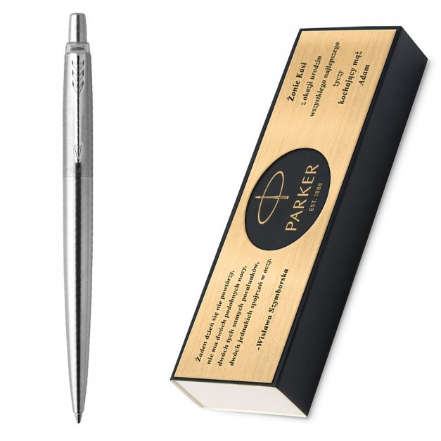 Długopis Parker Jotter Stalowy CT GRAWER i ETUI