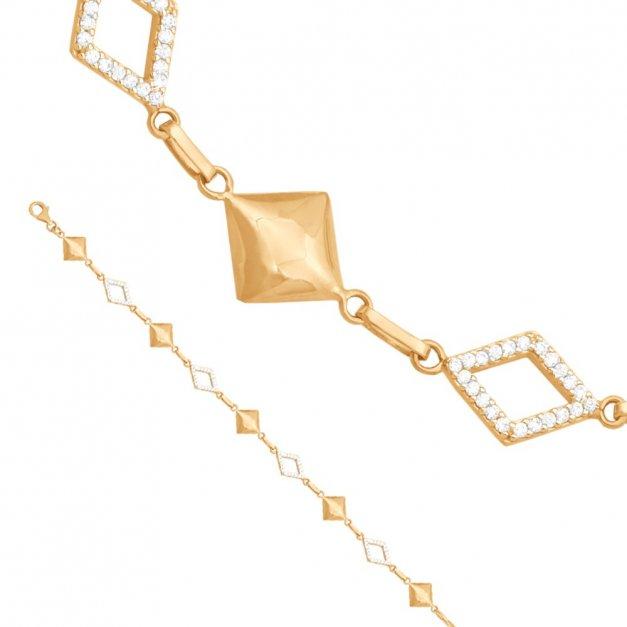 Złota bransoletka 585 ozdobna PREZENT GRAWER