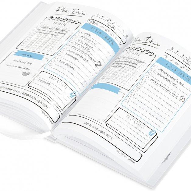 Planner kalendarz książkowy z nadrukiem dla niej fitnesski studentki