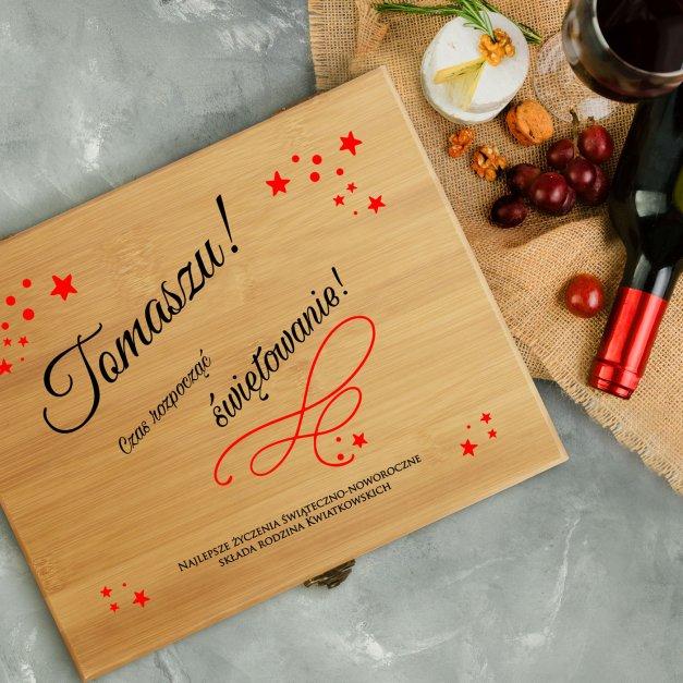 Akcesoria do wina dedykacja zestaw na święta