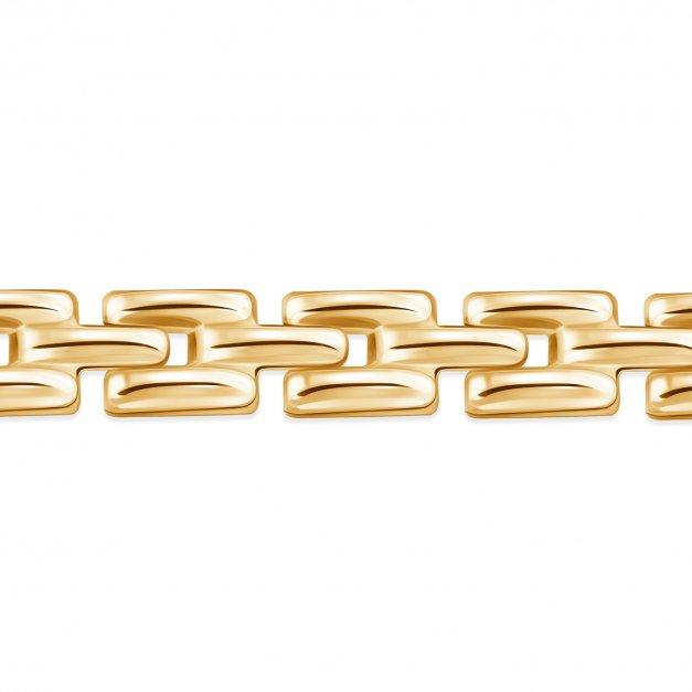Złota Bransoletka 333 Geometryczna Grawer