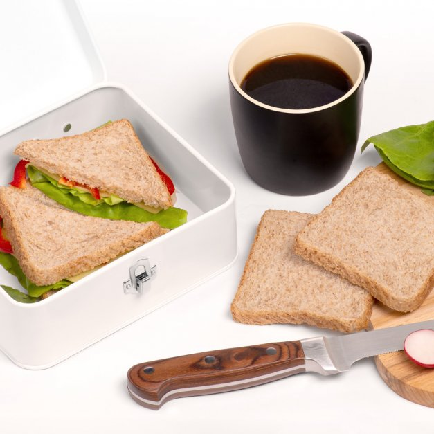 Metalowa Śniadaniówka Lunch Box z Nadrukiem Wilczy Apetyt
