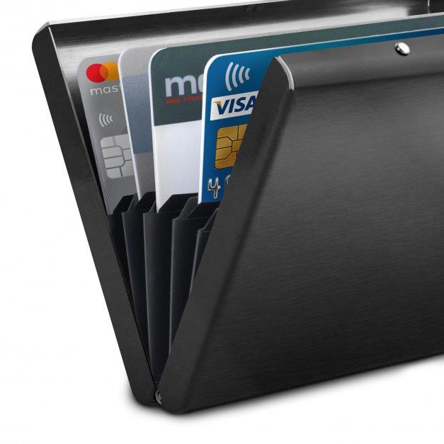 Grawerowane etui na karty kredytowe Inicjał