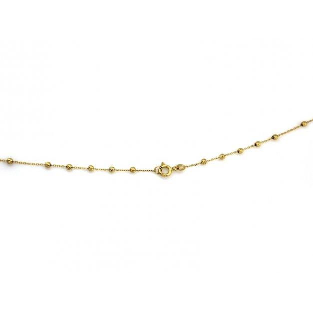 Złoty naszyjnik 585 różaniec krzyżyk prezent
