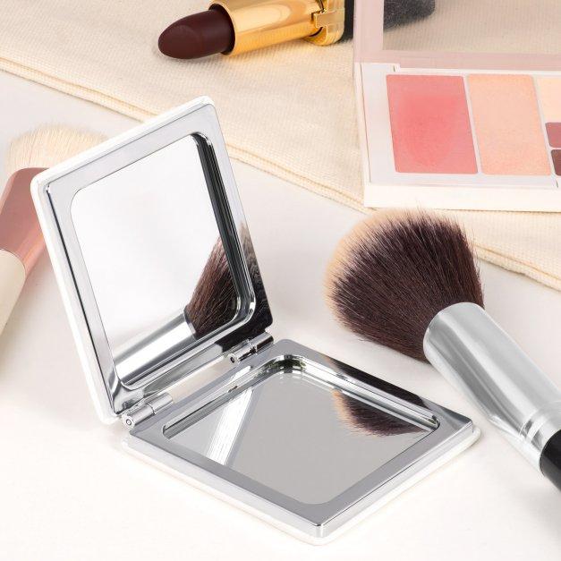 Lusterko kwadratowe z nadrukiem dla kosmetyczki singielki