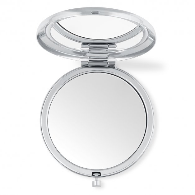Lusterko okrągłe srebrne z grawerem dla niej na imieniny
