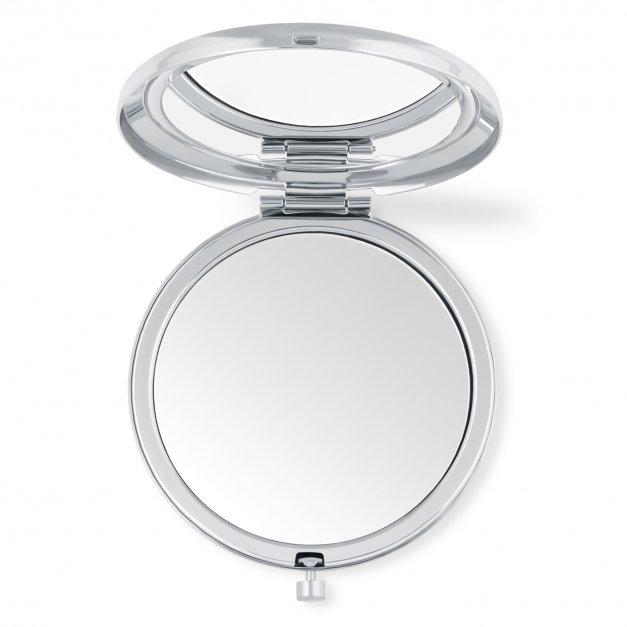Lusterko okrągłe srebrne z inicjałem dla niej