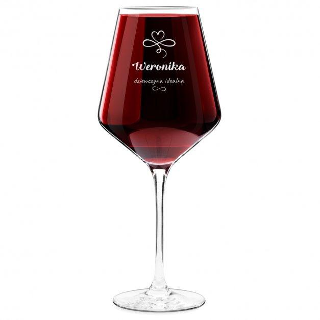 Kieliszek do wina KROSNO avant-garde z grawerem dziewczyna idealna dla dziewczyny na walentynki