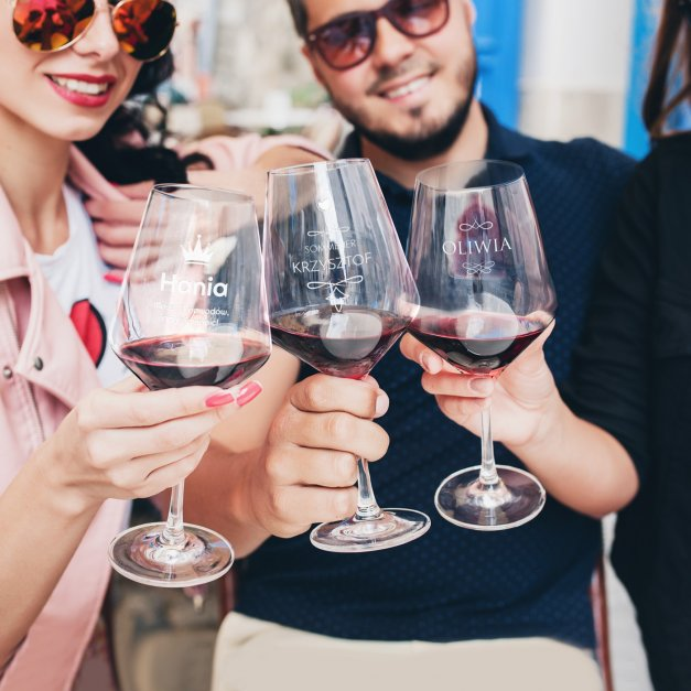 Kieliszek do wina KROSNO avant-garde z grawerem znawca smaku dla winiarza na imieniny