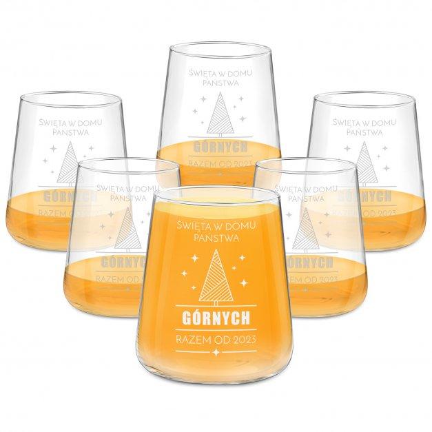 Szklanki grawerowane avant garde x6 dla pary na święta