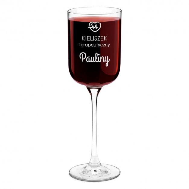 Kieliszek szklany do wina Glamour z grawerem dla singielki po rozwodzie rozstaniu