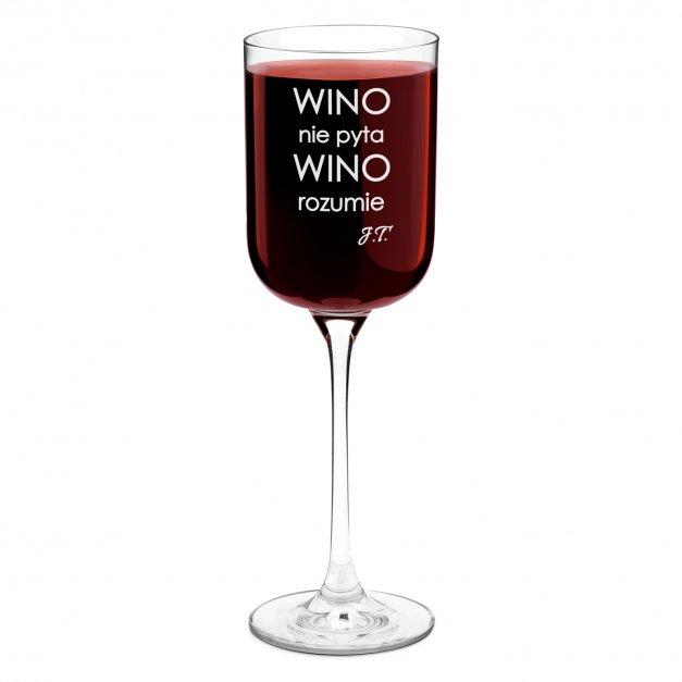 Kieliszek szklany do wina Glamour z grawerem dla niej