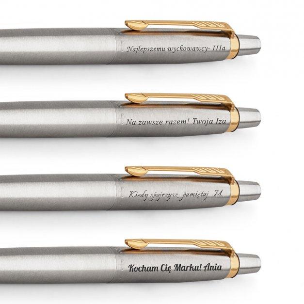 Długopis Parker Jotter Stalowy GT GRAWER i ETUI