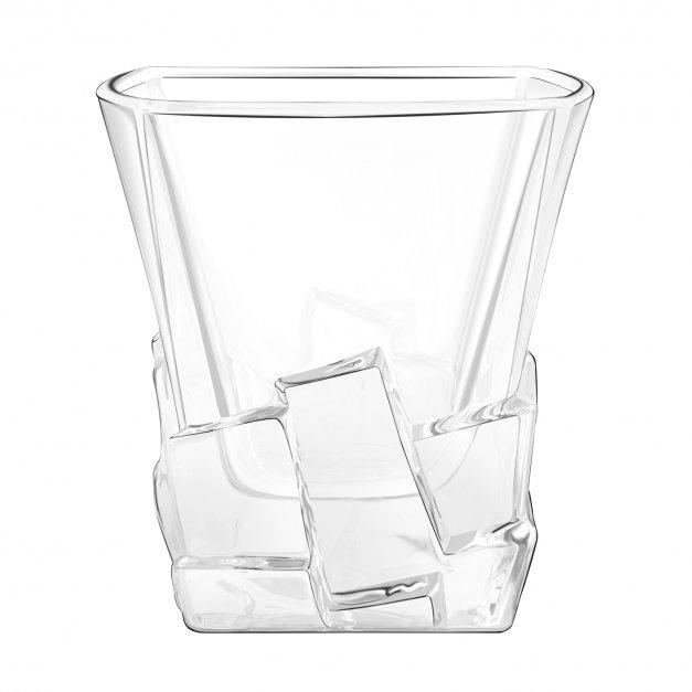 Zestaw kamienie kostki do whisky ze szklankami z grawerem dla podróżnika