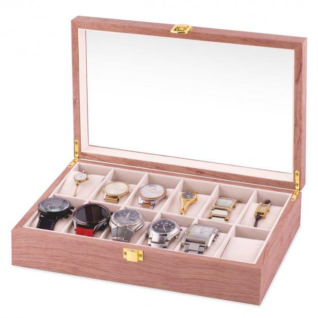 Szkatułka drewniana na zegarki z grawerem prawdziwy diament dla niej