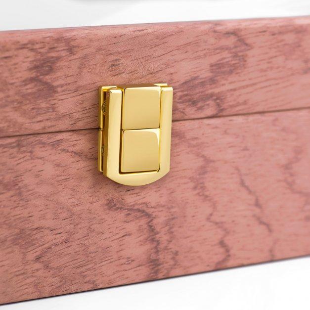 Szkatułka drewniana na zegarki z grawerem dla niej na walentynki