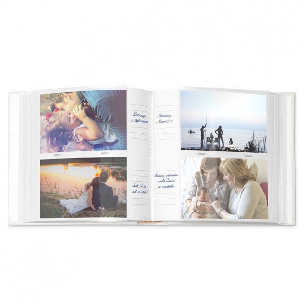 Album mały z oknem nadruk dedykacja dla pary na ślub rocznicę parapetówkę