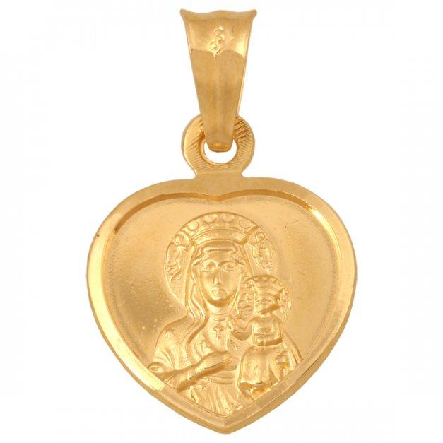 Złoty medalik 585 serduszka prezent grawer