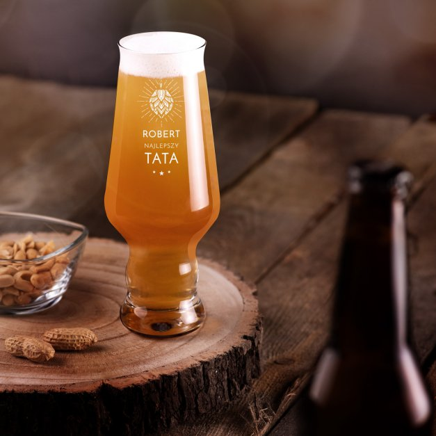 Szklanka do piwa Krosno Splendour z grawerem dla taty