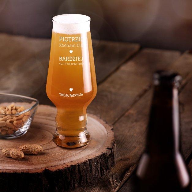 Szklanka do piwa Krosno Splendour z grawerem dla chłopaka męża na walentynki