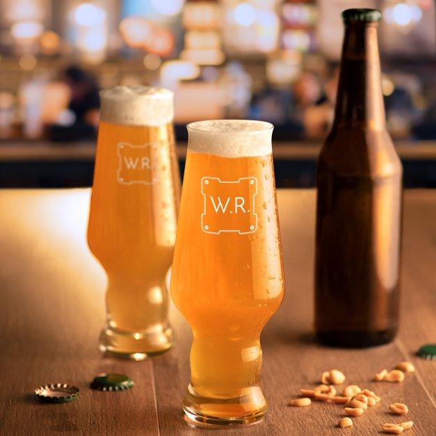 Szklanki do piwa x6 Krosno Splendour z grawerowanymi inicjałami