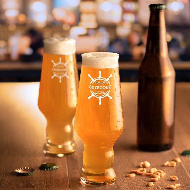 Szklanki do piwa x6 Krosno Splendour z grawerem dla żeglarza na urodziny