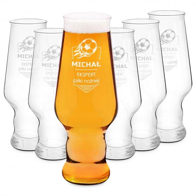 Szklanki do piwa x6 Krosno Splendour z grawerem dla kibica
