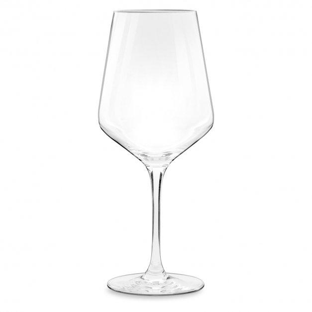 Kieliszki szklane x6 do wina rubin rozmiar XL z grawerunkiem dla mamy na 50 urodziny