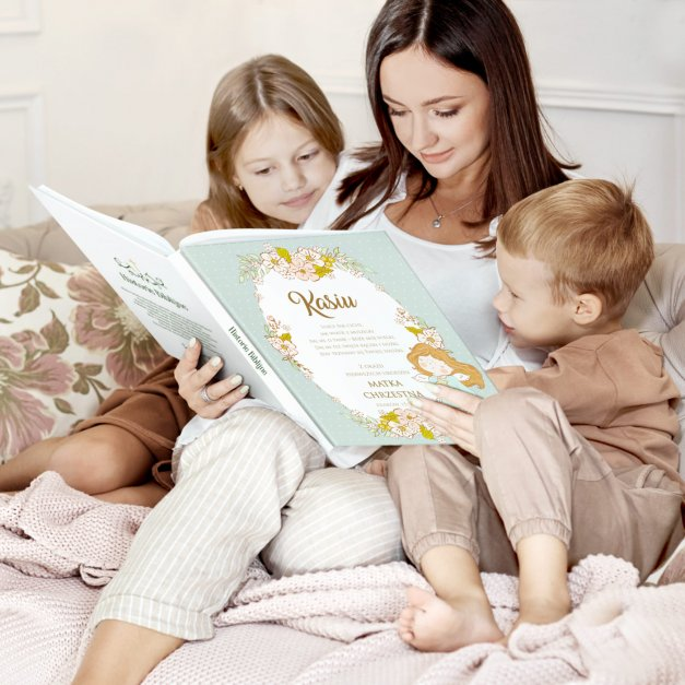Historie opowieści biblijne z nadrukiem dla dziewczynki na roczek