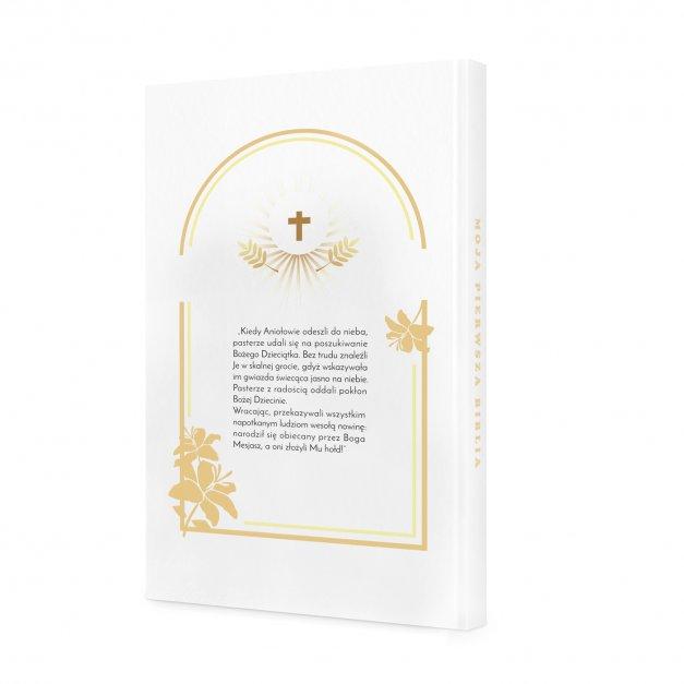 Biblia Dla Dzieci Z Twoim Nadrukiem I Drewnianym Etui Pierwsze Urodzinki
