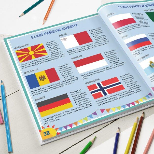 Atlas geograficzny z nadrukiem dla dziewczynki na imieniny