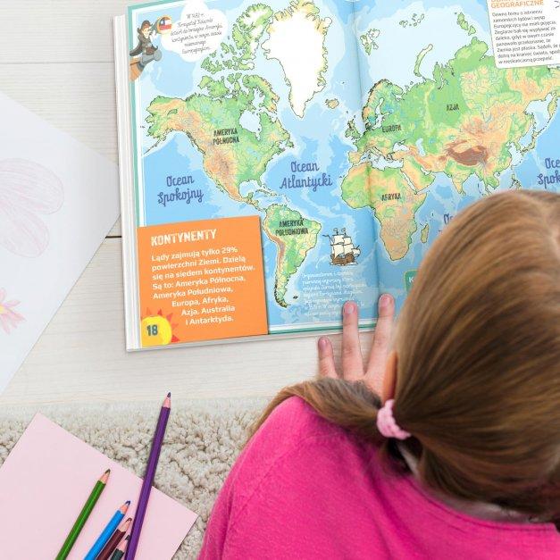 Atlas geograficzny z nadrukiem dla dziewczynki jako nagroda