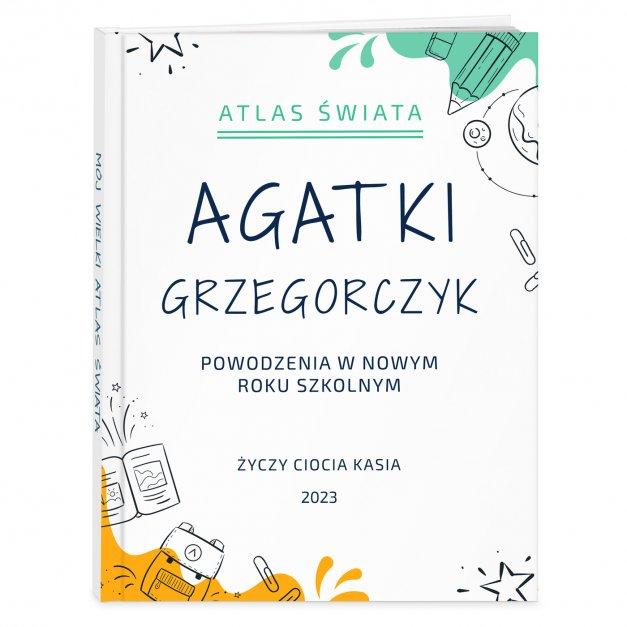 Atlas geograficzny z nadrukiem dla dziewczynki