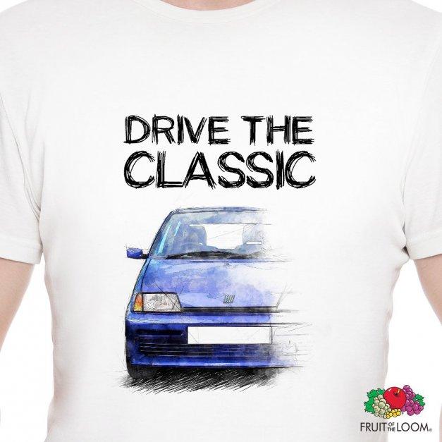 Koszulka Męska z Nadrukiem fana Fiat Cinquecento