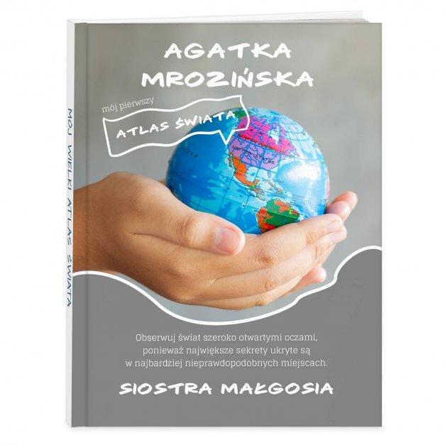Atlas geograficzny z nadrukiem dla siostry