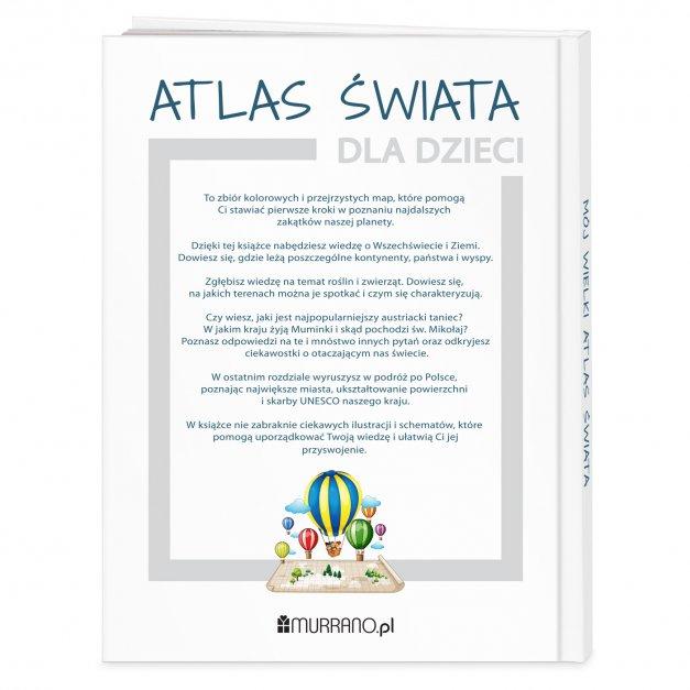 Atlas geograficzny z nadrukiem dla koleżanki
