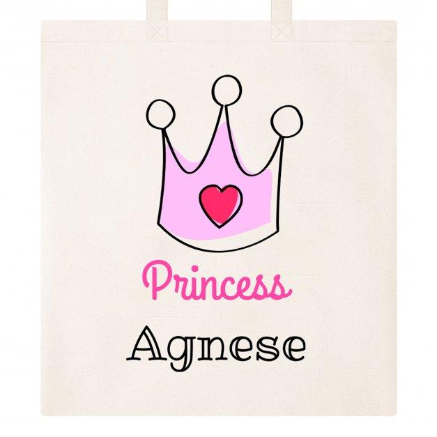 Bawełniana Eko Torba z Twoim Nadrukiem Princess Księżniczka